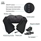Dr Recommends Shiatsu Neck Shoulder Back Massager With Heat, Deep Tissue 3D Kneading Pillow Electric...