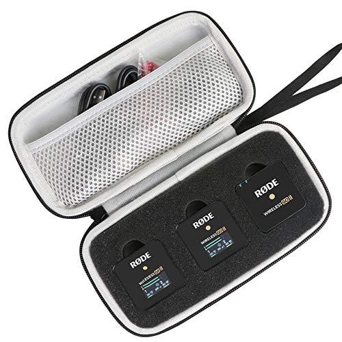 Khanka Hart Tasche case für Rode Wireless GO II. (nur Tasche, schwarz)
