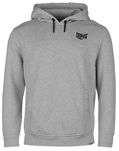 Everlast Kapuzenpullover Hoodie Hoody Sport Sweater Herren NEU bis 4XL (M, Grau)