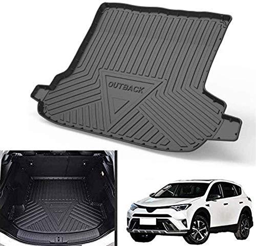 Black Boot-Liner Bodenablett for Subaru Outback 2015-2019 Auto-Boot-Matten, rutschfeste wasserdichte rückseitige Sitzbezug-Boot-Liner-Tablett-Matte maßgeschneiderte Fracht-Speicher-Protektor-Pad Auto-