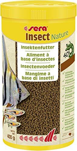 sera Insect Nature (1,5mm) 1000ml - 100% Protein aus nachhaltiger Quelle - nachhaltiges Insektenmehl als Proteinquelle BZW. Fischfutter fürs Aquarium, Granulat ohne Farb- & Konservierungsstoffe