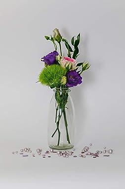 casavetro - 24 Botellas de Cristal en Estilo Mesa de Boda florero pequeño rústico para Decorar mesas, jarrones de Cristal, Vi