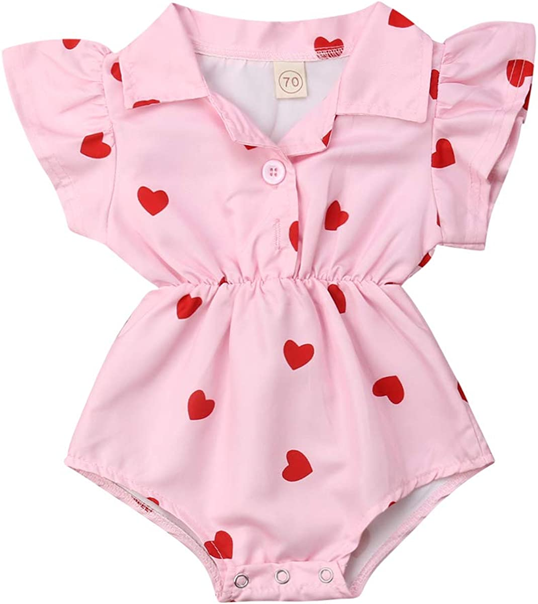 2021 Newborn Baby Girls Valentine's Day Heart Patter Clothes Outlet sale feature Set Charlotte Mall