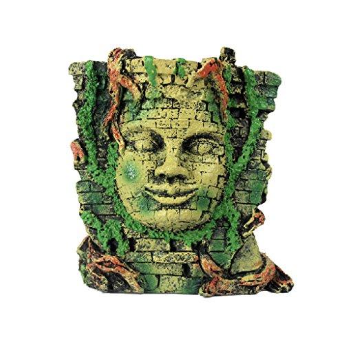 Reptile Vivarium Decoration Aquarium Fish Tank Underwater Ornament Mayan Mask