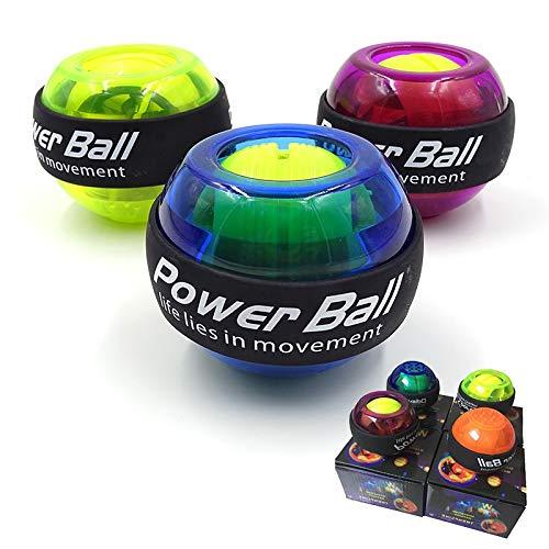 yan Power Ball LED Wrist Ball Trainer Gyroscope Strengthener Gyro Power Ball Arm Exerciser Powerball Exercise Machine Gym Fitness Equipment (Color : Blue)