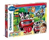 Disney - Puzzle 3D, 104 Piezas, con Gafas, diseño Mickey Club House (Clementoni...