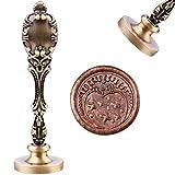 Timbro per ceralacca di luna, in stile vintage, con timbri, in rame, con testa in ottone rimovibile, 30 mm, per buste di matrimonio, inviti, decorazione bottiglia, confezione regalo