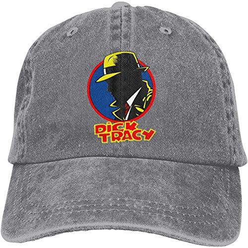 Heyuanqinkeji Dick Tracy Profiel Mannen Womens Vintage Cowboy Hoed Verstelbare Casquette Baseball Cap Zwart