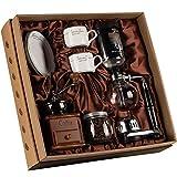 Chunjiao Grinder manual de café -Siphon Coffee Pot Set SIPHON Vintage Coffee Grinder Sifón puede establecer la caja de cafetera, 3 tipos de café de vacío Maquina de cafe (Color : B)