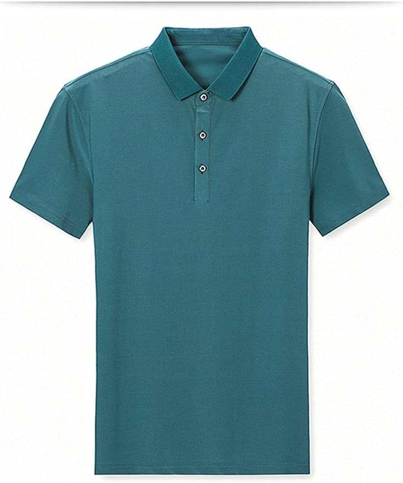 XJJZS Men Polo Shirt Top S Dallas Mall Office Business Solid Cotton Surprise price