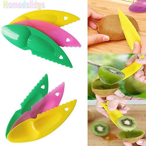 DIVISTAR-6Pcs/Set Cortador Herramienta Fruit Gadget para Cocina Utensil Kiwipeeler Cutter Cuchara