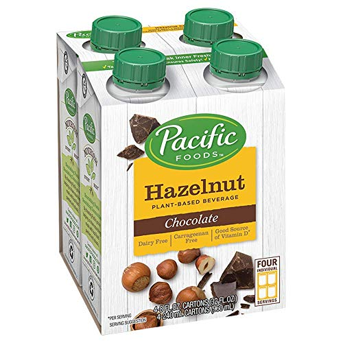 Pacific Foods Hazelnut Non-Dairy Beverage, Chocolate, 8-Ounce, (Pack of 24)