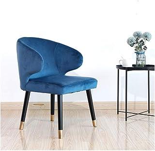 Silla de madera maciza, las piernas del metal de la silla de la habitación, Sillas de cocina, sillón, sillas Salón Salón de ocio, Bañera silla, con respaldo Apoyabrazos, simple del estilo del color ro