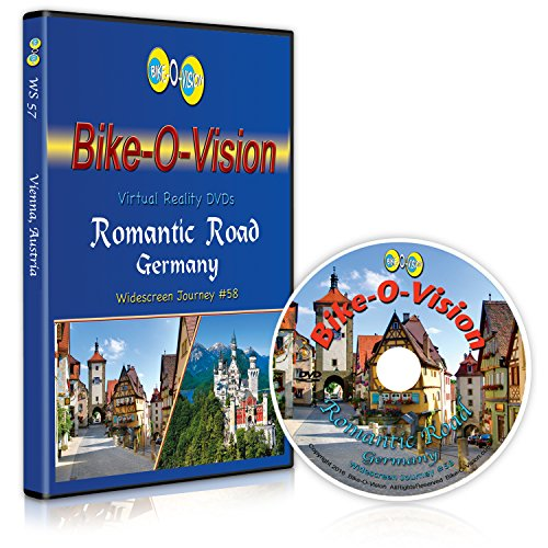 Bike-O-Vision - The Romantic Road, Germany - Virtual Cycling Adventure - Perfect for Indoor Cycling and Treadmill Workouts - Cardio Fitness Scenery Video