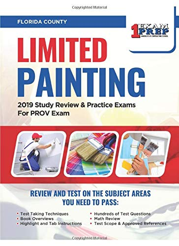 Price comparison product image Florida Limited Painting: 2019 Study Review & Practice Exams For PROV Exam