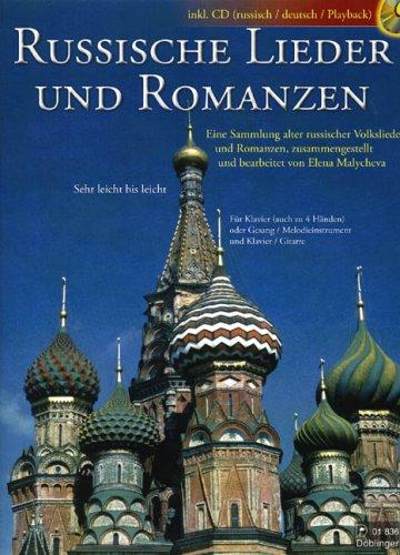 Russische Lieder + Romanzen. Gesang, Klavier, Klavier zu 4 Händen, Gitarre