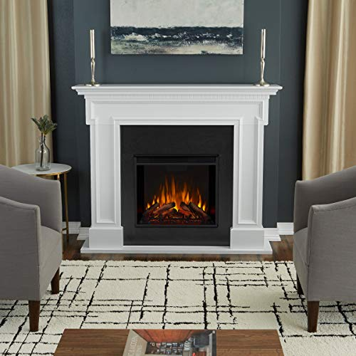 Real Flame White 5010E-W Thayer Electric Fireplace