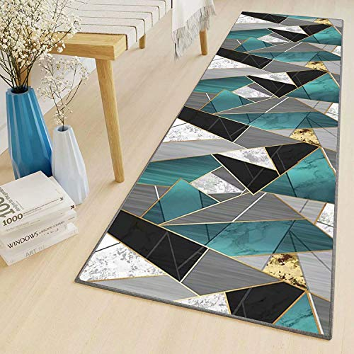 Tapis Cuisine Devant evier 60x150cm Moderne Lavable antiderapant Long Design Traditionnel Tapis de Couloir Au Mètre pour Salon Chambre Cuisine Hall d