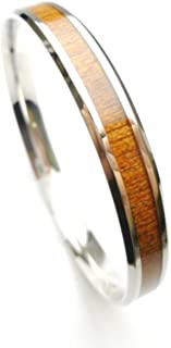 koa wood bangle bracelet