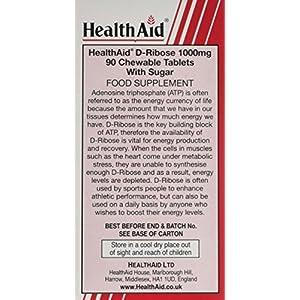 Health Aid 1000 mg D-Ribose Tablets, 220 g
