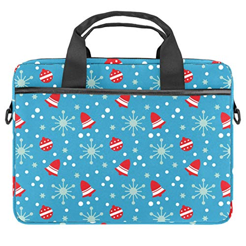 13-14.5 Inch Laptop Sleeve Case Red Christmas Bell Pattern Protective Cover Bag Portable Computer Notebook Carrying Case Briefcase Message Bag