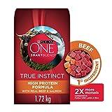 Purina ONE Smartblend True Instinct Natural Dry Dog Food, Beef & Salmon 1.72 kg Bag
