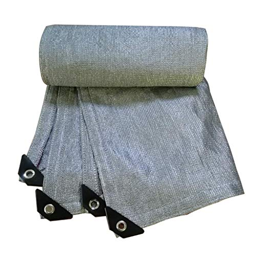 Brook Road Reflektierendes Aluminet ™ Shade-Tuch80% Silber Shade-Tuch, UV-beständiges Schattengewebe für Gartenterrassen-Sonnenschutzgitter-Pergola-Überdachungsüberdachung, 12 x 18 ft / 4 x 6 m