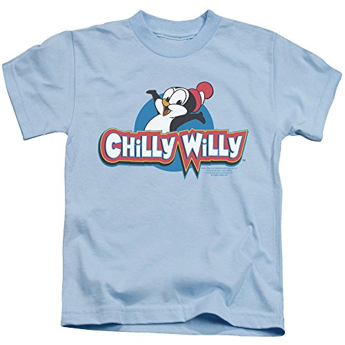 Chilly Willy Logo Unisex Youth Juvenile T-Shirt for Girls and Boys, Large (7) Light Blue