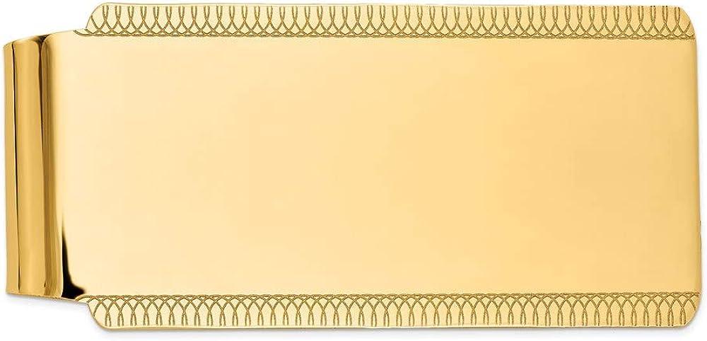 14k Regular discount Super sale period limited Yellow Gold High Men's Clip Polish Money