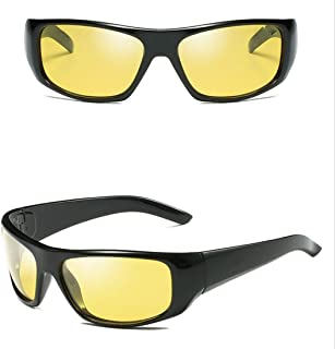 LUKEEXIN Polarized Fashion Sports Night Vision Sunglasses for Baseball Cycling Fishing Golf Superlight Frame (Color : 08)