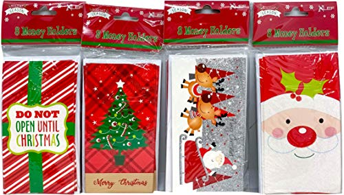 Christmas Money Wallet/Gift Card Holder with Envelopes (16 Money Holders)