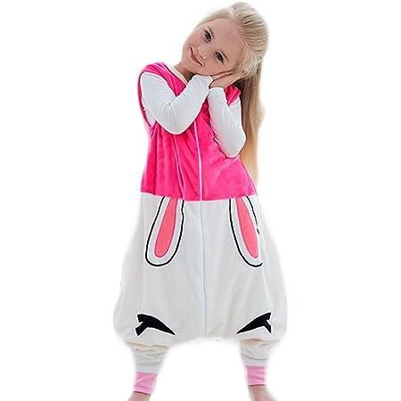 1-6T Rexinte Kids Winter Sleeveless Microfleece Wearable Blanket Warm Sleep Sack
