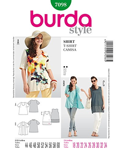 Burda Schnittmuster 7098 Shirt/ Top