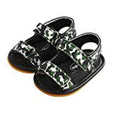 Baby Boys Adventure Seekers Camouflage Two Strap Sandals Anti-Slip Walking Shoes Green Size L