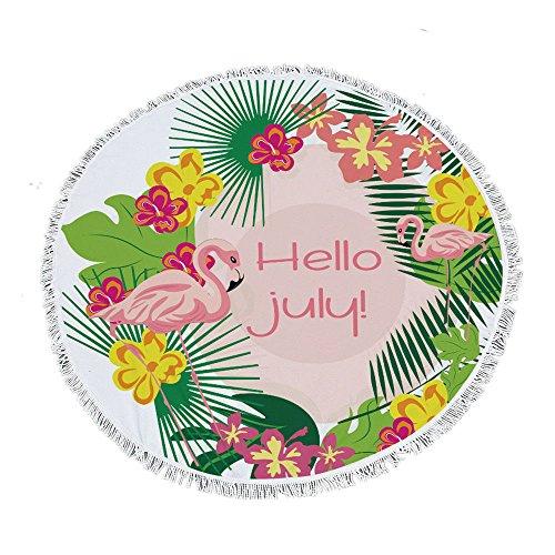 Stillshine 3D Eenhoorn Leeuw Flamingo Gitaar Strand Handdoeken Kwastje Rond Beach Handdoek, Handdoek/Bad Handdoek/Zomer Zonnebrandcrème Sjaal/Picknick Mat/Yoga Matten/Sjaal Sjaal 150X150CM
