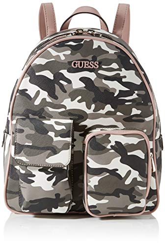 Guess Damen UTILITY VIBE LARGE BACKPACK Packpack, Camouflage, Einheitsgröße