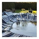 'N/A' Teich Plane Schwarz HDPE Teich Abdeckung Fisch Teich Futter Teich Futter Brett Schwimmen Plane Abdeckung Garten Stream Brunnen(Size:2x2m)