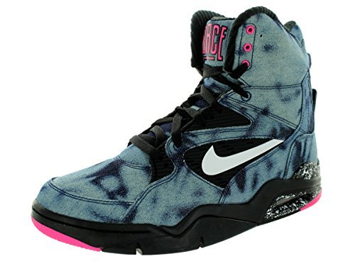 Nike Men's Air Command Force Basketball Shoe (6.5 D(M) US, Black/White/Pink Pow)
