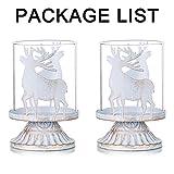 Sziqiqi 2er Set Vintage Kerzenleuchter Kerzenständer Kerzenhalter Windlichthalter aus Metall für Stumpenkerzen, Hurricane Kerzenständer Dekoration für Party Weihnachten Tisch Mantel Kamin, Weiß - 6