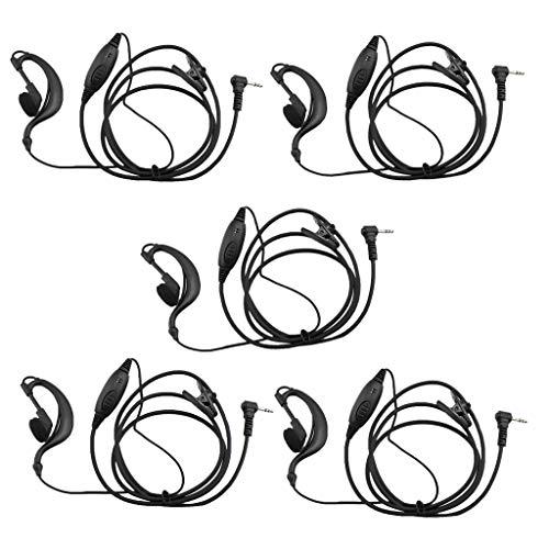 MERIGLARE 5X 1 Pin Auriculares Micrófono PTT para MT350R MG160A MH230TPR