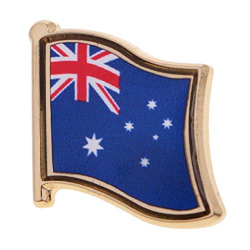 P Prettyia Metall Anstecknadel Flagge Pin, Fahne Nationalflagge Flaggenpin, Badge Button Flaggen Clip Anstecknadel - Australien