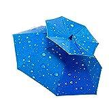 Angeln Regenschirm Hut Folding Sun Regenmütze Einstellbar Outdoor Headwear für Camping Angeln