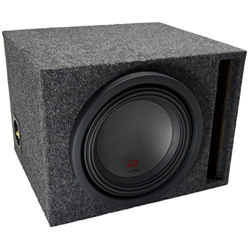Universal Car Stereo Vented Port Single 10' Alpine R-W10D4 Type R Car Audio Subwoofer Custom Sub Box Enclosure Package New