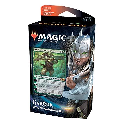 Magic: The Gathering- Deck de planeswalker Garruk, héraut Sauvage, Édition de Base 2021