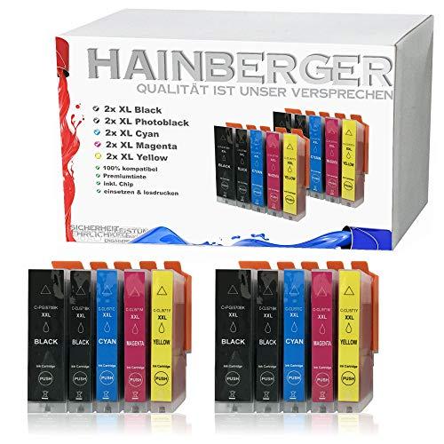 10x Hainberger XXL Patronen für Canon Pixma MG5750 MG6850 MG7750 PGI-570/CLI-571