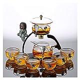 Conjunto de 9/10 Piezas de Conjunto de té de Cristal Perezoso semiautomático de la Oficina de la Oficina Kung Fu Teacup Set Tea Brewing Tea Set ( Size : C )