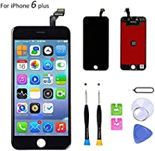 Compatible with iPhone 6 Plus Screen Replacement (5.5 inch Black), LCD Digitizer Touch Screen Assembly Set with Touch Function, Repair Tools and Professional Replacement Manual Included