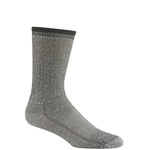 Wigwam Men's Merino Wool Comfort Hiker Crew Length Sock,Charcoal,Large/shoe Size:Men's 9-12,Women's 10-13