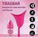DEMESEX Frauenurinal, Sicheres Urinieren Weiblich Tragbar Urinieren Gerät Stehpinkler im Stehen Oder Hocken, wiederverwendbar flexiblem -