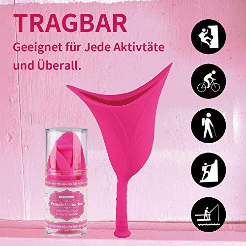 DEMESEX Frauenurinal, Sicheres Urinieren Weiblich Tragbar Urinieren Gerät Stehpinkler im Stehen Oder Hocken, wiederverwendbar flexiblem